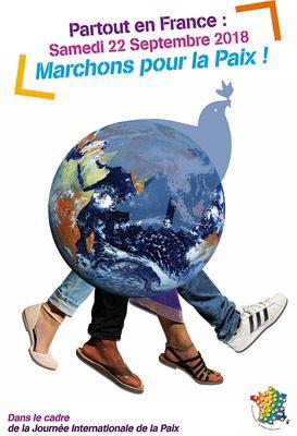 Partout en France, marchons pour la paix le samedi 22 septembre 2018