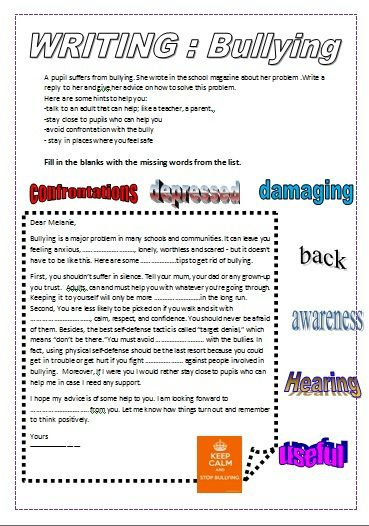 Bullying : A letter of advice