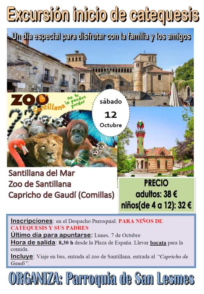 Excursión inicio de catequesis al Zoo de Santillana y Capricho de Gaudí