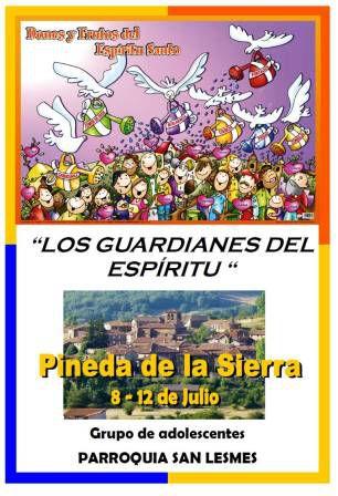 Acampada del grupo de adolescentes en PINEDA DE LA SIERRA