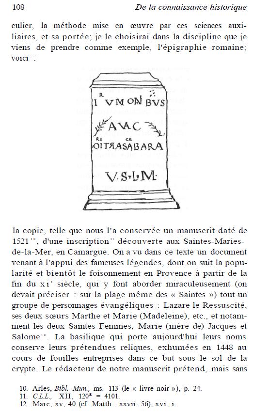 Leçon d'épigraphie - l'inscription des Saintes-Maries-de-la-Mer, un cas d'école
