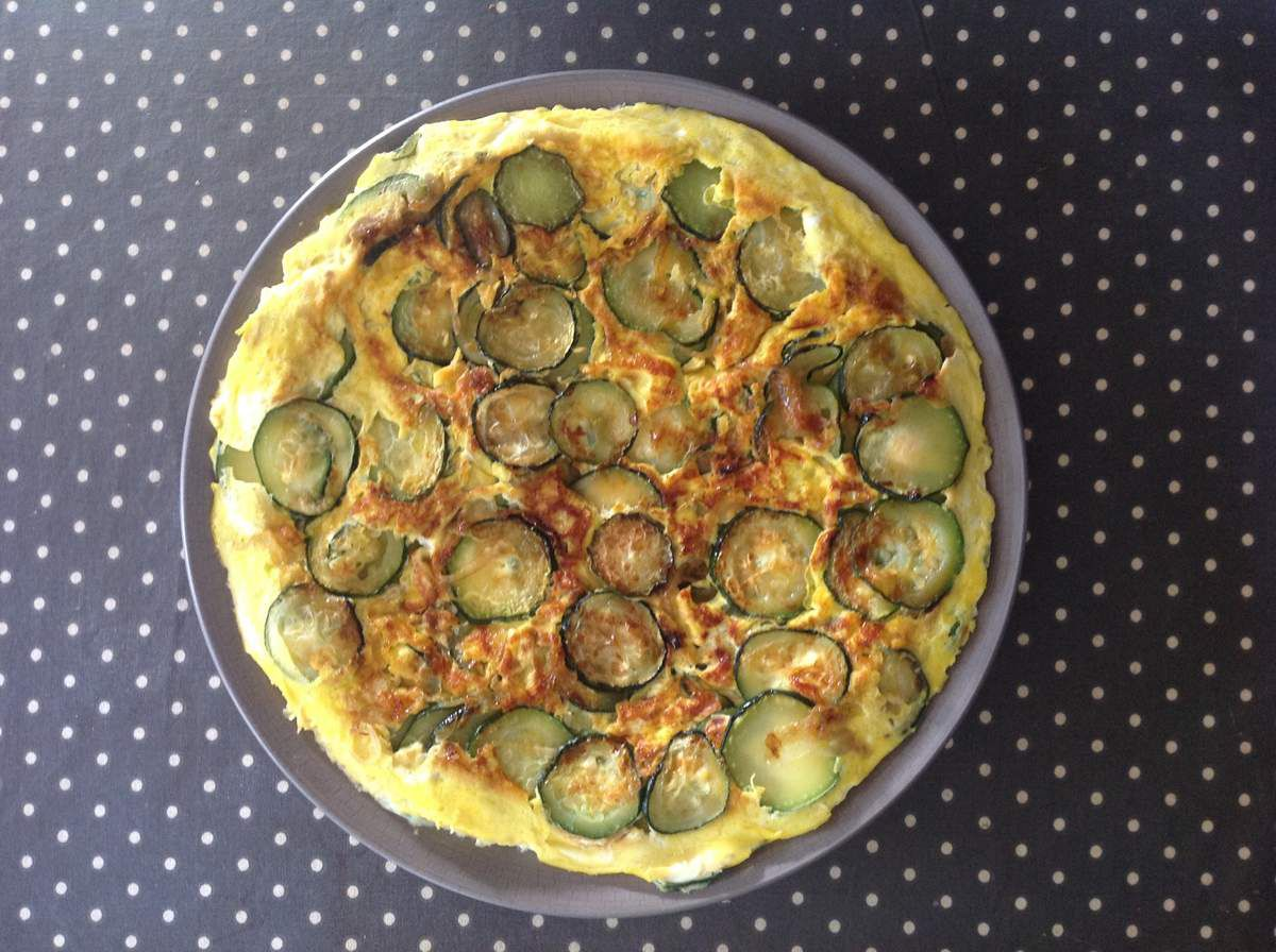 omelette froide courgettes-basilic