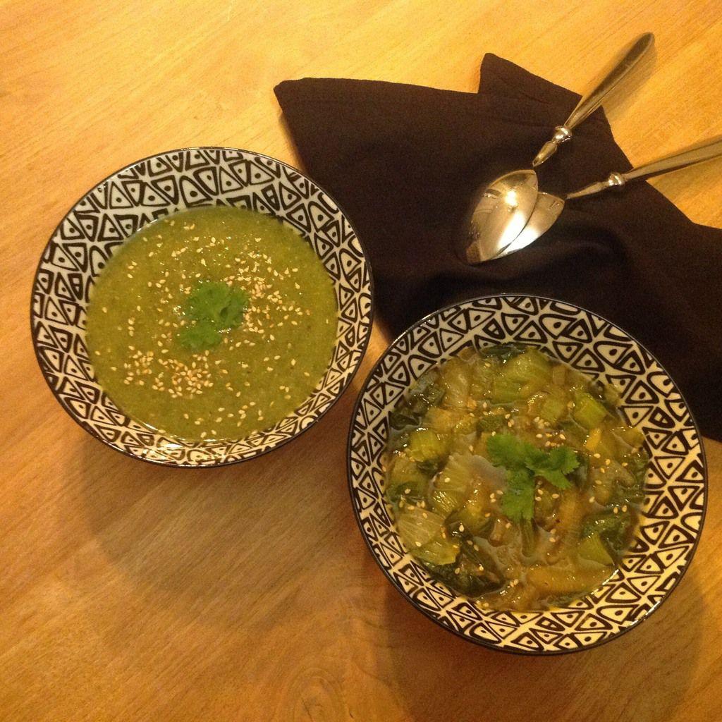 Soupe au chou chinois et au gingembre