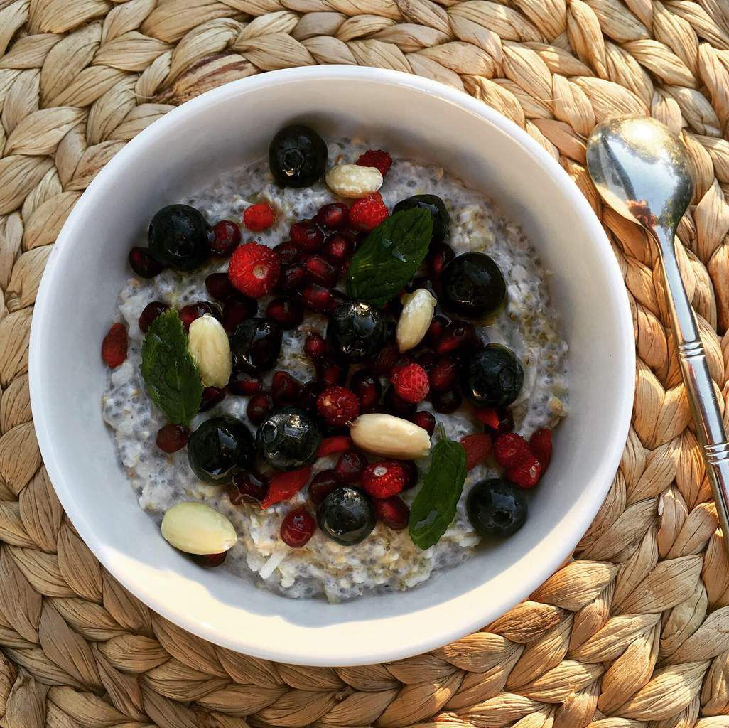 Bircher muesli aux fruits rouges
