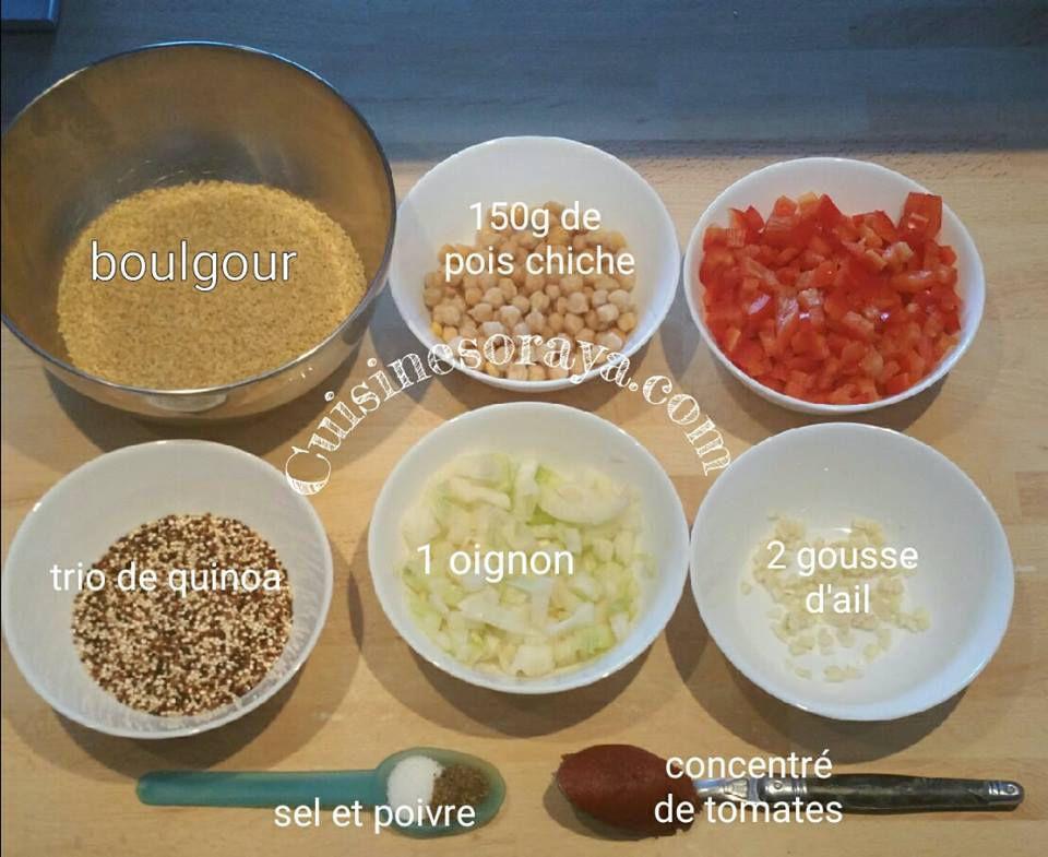 boulgour et trio de quinoa aux légumes