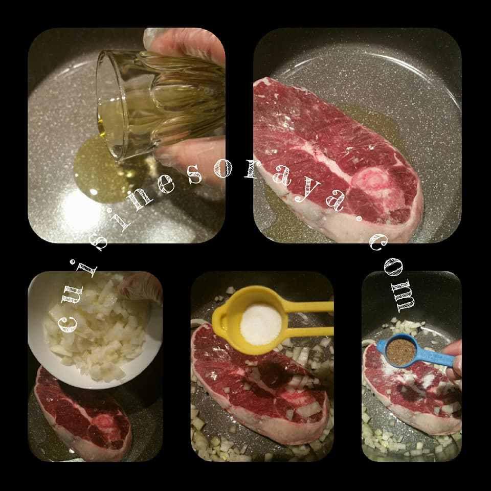 Ragoût d'agneau et aux légumes.