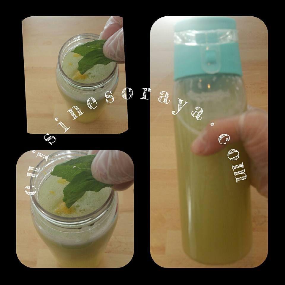 Limonade de gingembre,citron, concombre et menthe pour dégonfler votre ventre.