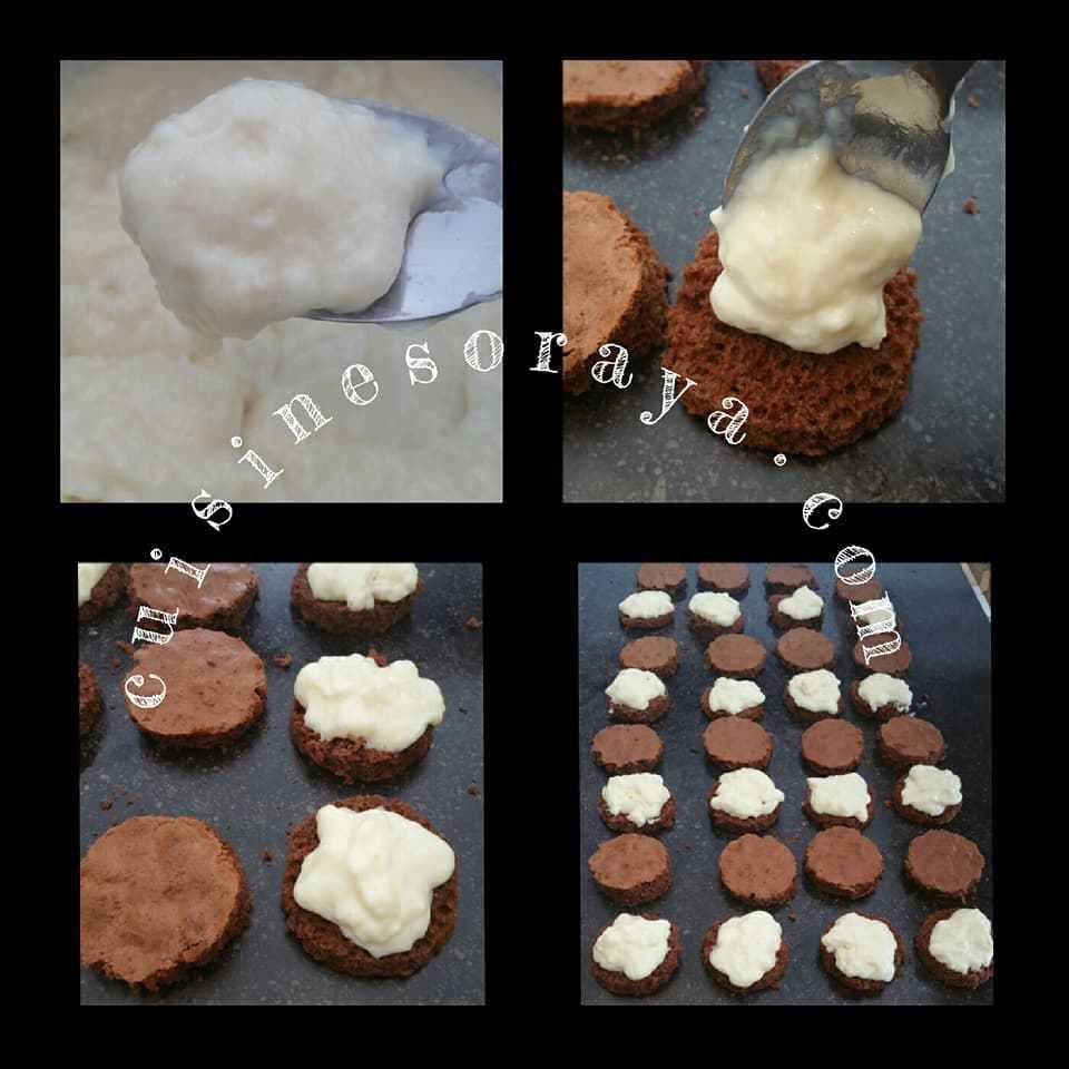 Gâteau choco, crème de lait et noix de coco