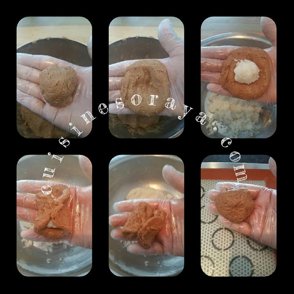 Biscuits chocolat au coeur noix de coco