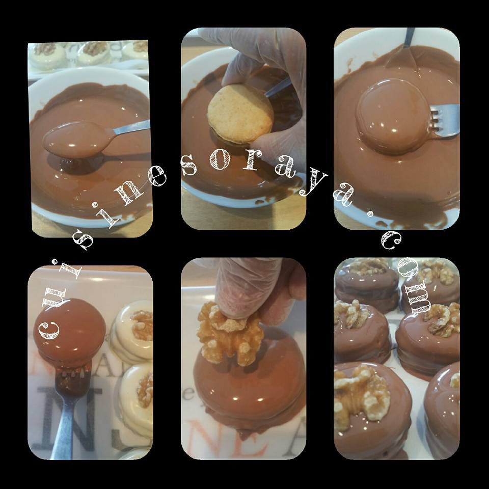 Gâteaux aux noix et chocolat
