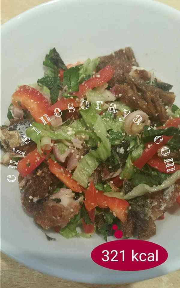 Salade de maquereaux croustillant