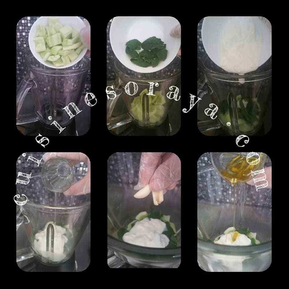 Gaspacho concombre - menthe fraîche