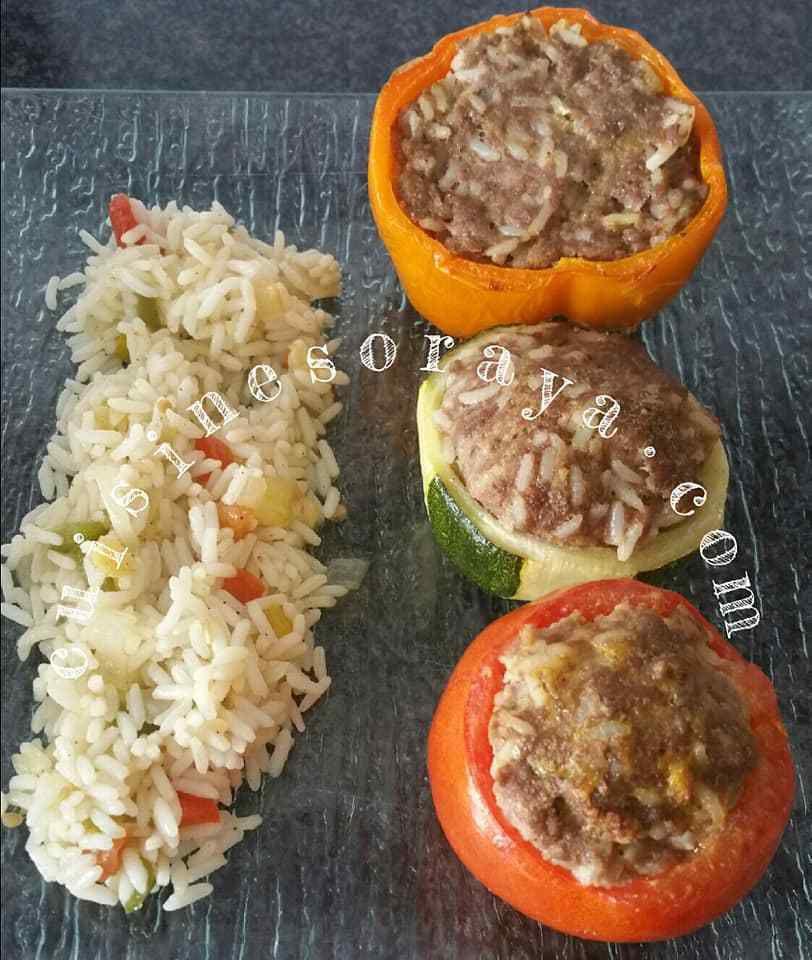Légumes farcis à la viande et au riz