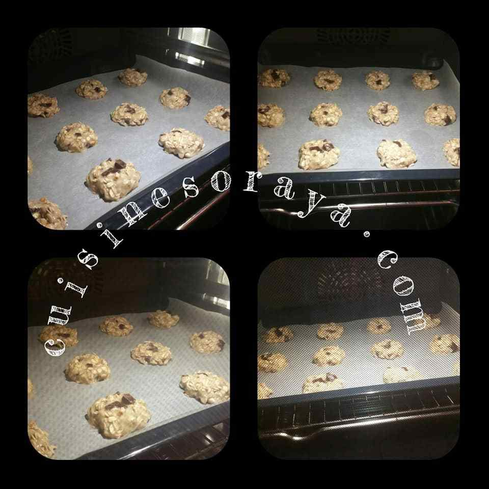 cookies bananes flocons d'avoine chocolat