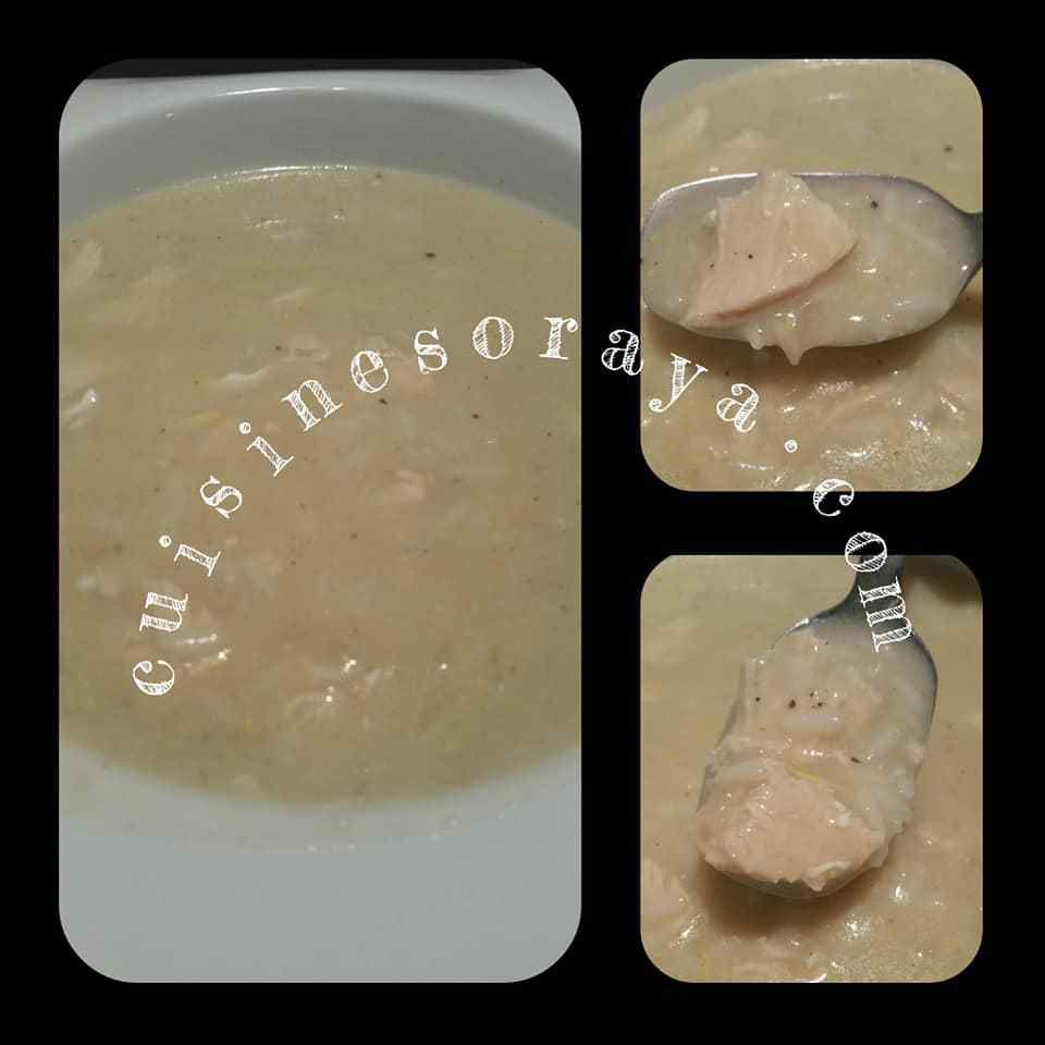 Soupe Avgolemono / Soupe au poulet grecque