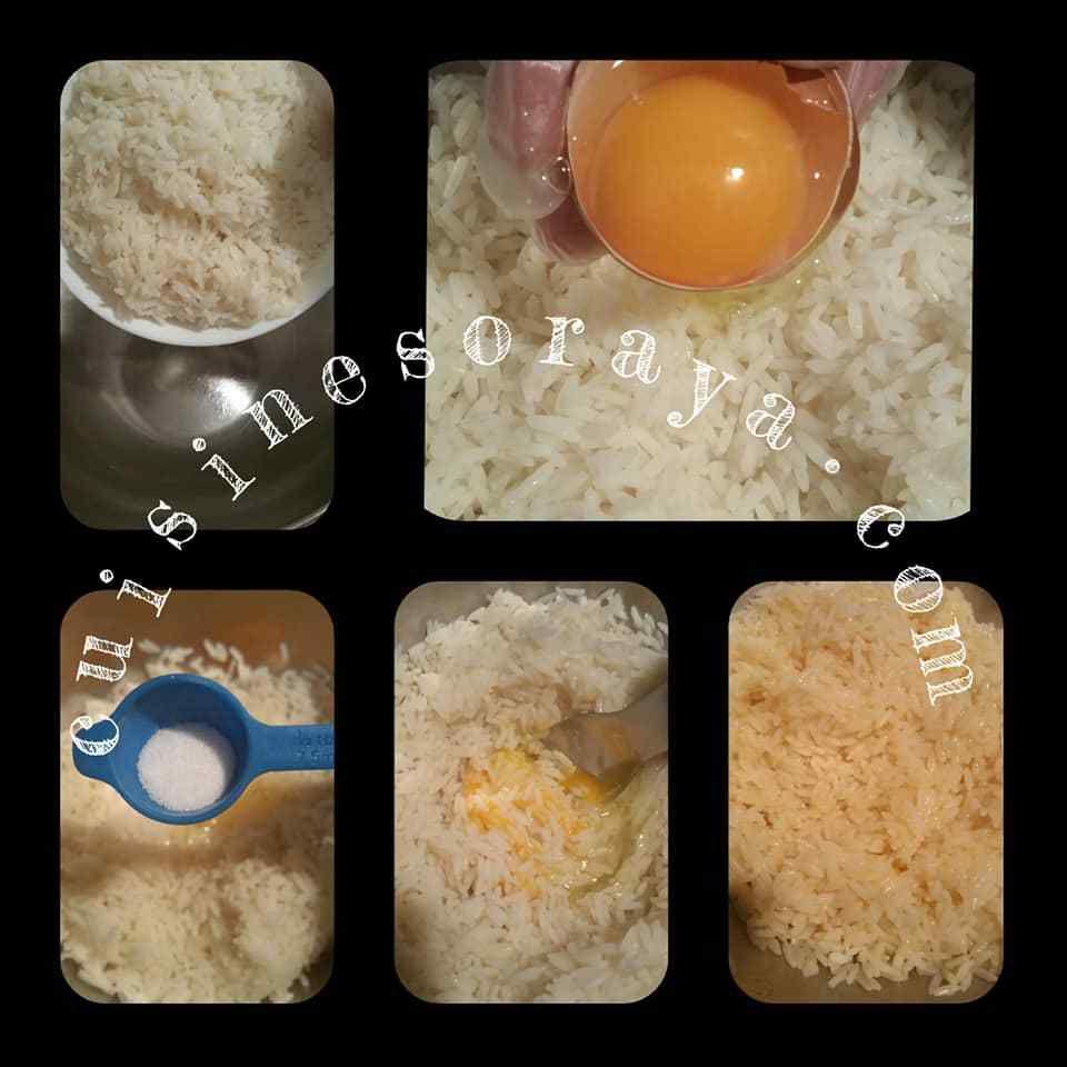 Hamburger riz au saumon fumé