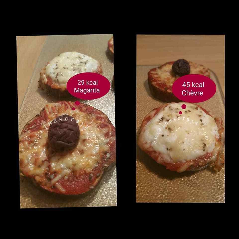 Mini pizza sur aubergine