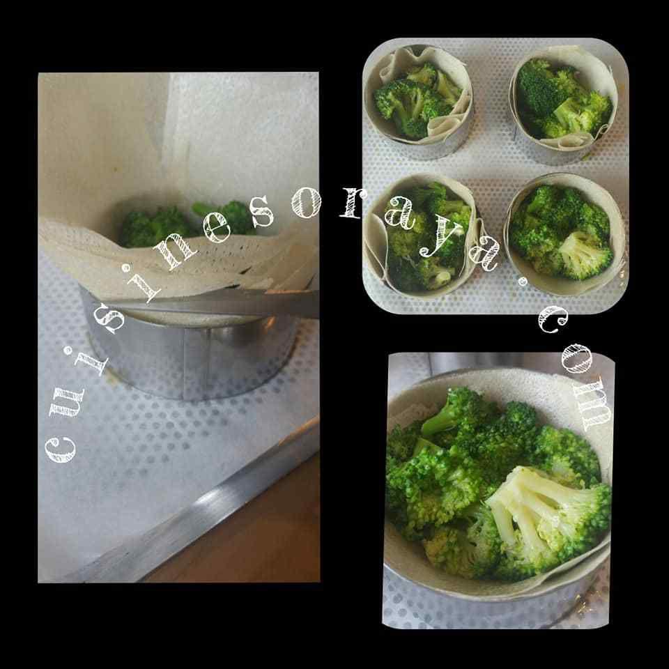Tarte Brick aux poulet, brocolis et chévre.