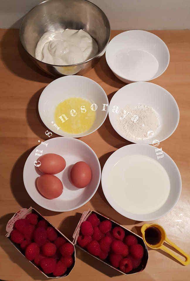 Tarte fromage blanc framboises