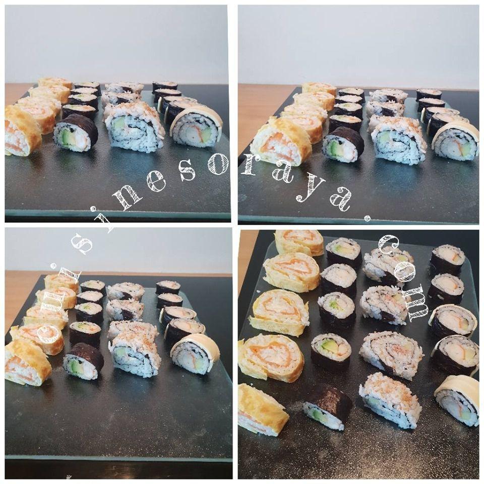 Sushi simple ou enrobé de fromage - Makis avec ou sans algue - california roll