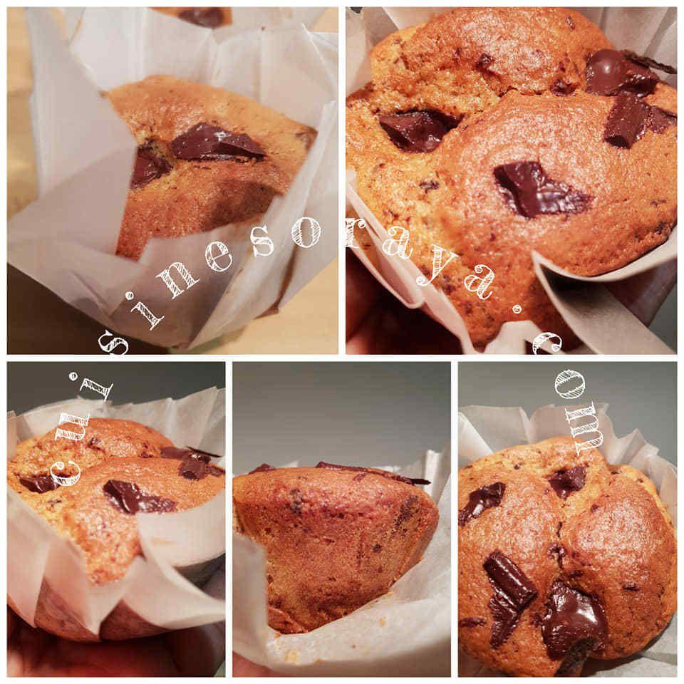 Muffins aux pépites de chocolat + Tuto fabriquer des caissettes muffins