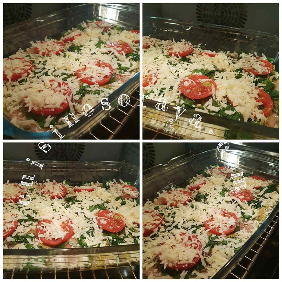 Poitrines de poulet aux légumes cuites au four