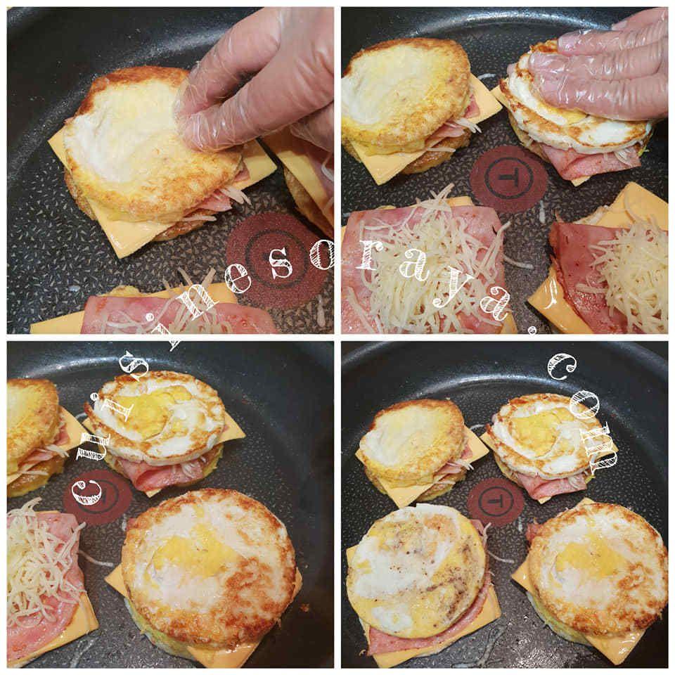 Eggs burger sans pain