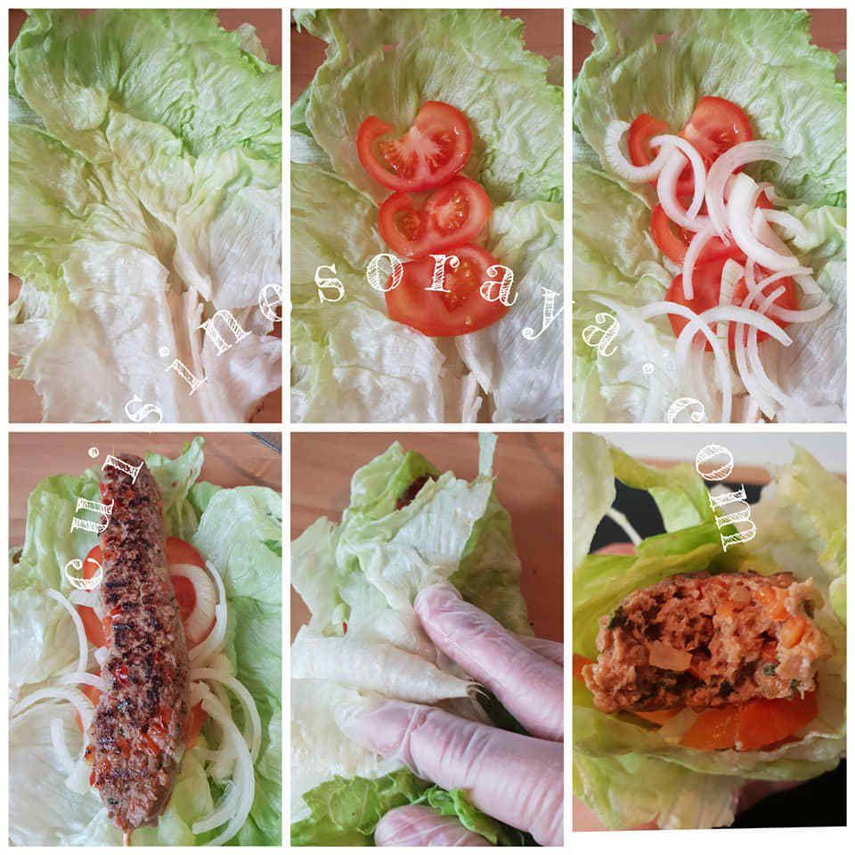 Brochettes de viande hachée aux légumes