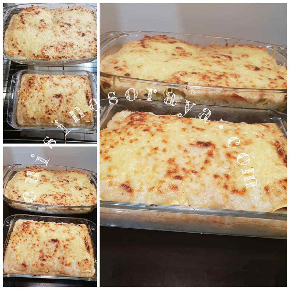 Roulés de lasagne au poulet
