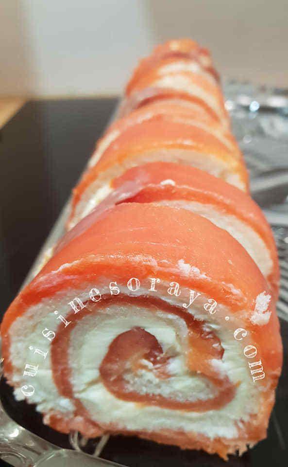 Rouleaux de saumon ou au poulet.