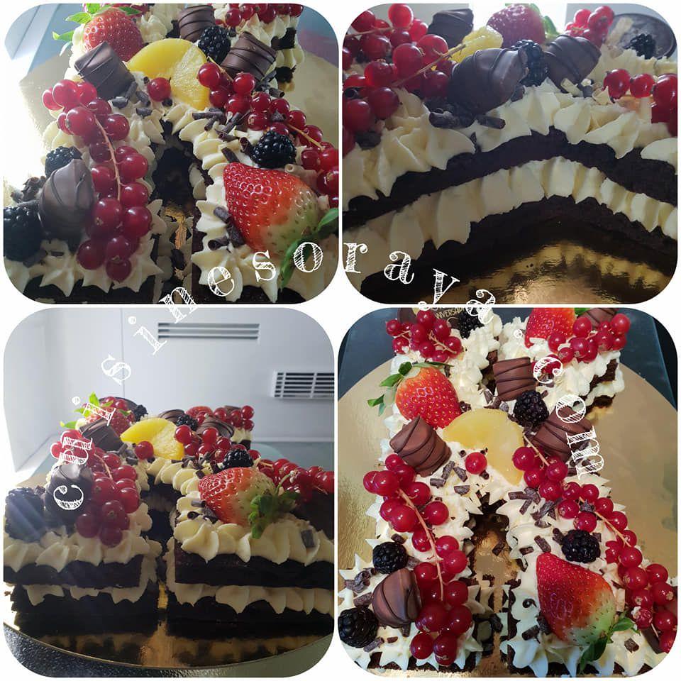 Number et letter cake en 100% génoise