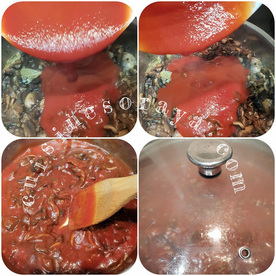 Linguini champignons à la sauce tomate express