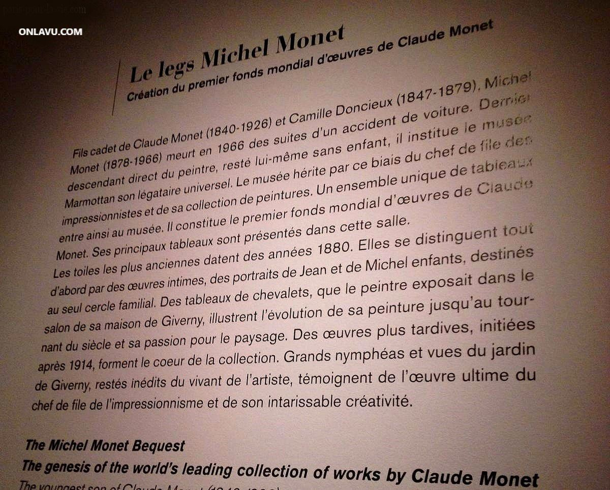 Musée Marmottan Monet : la plus importante collection d'œuvres de Claude Monet au monde. onlavu.com