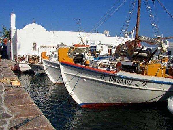 Im Hafen von Naoussa auf Paros