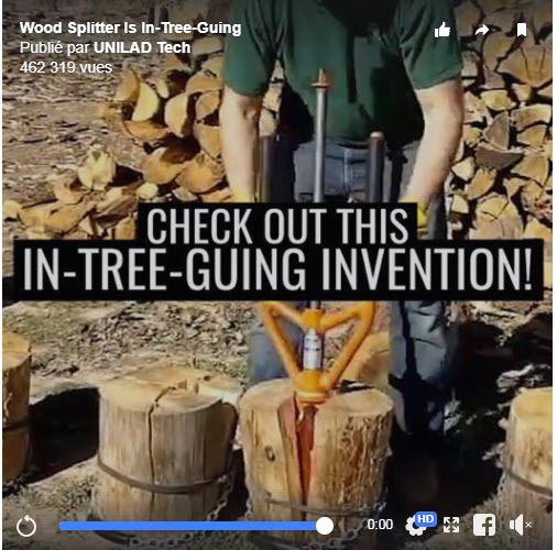 UNILAD juge le SPLITZ-ALL : Outil révolutionnaire pour fendre les bûches de bois en bois de chauffage