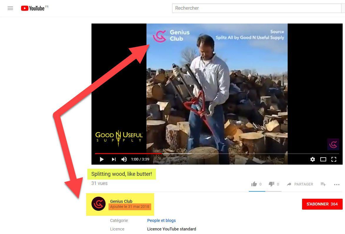 SPLITZ-ALL  : outil fendeur de buches ! SPLITTING WOOD LIKE BUTTER - Youtube GENIUS CLUB Chanel