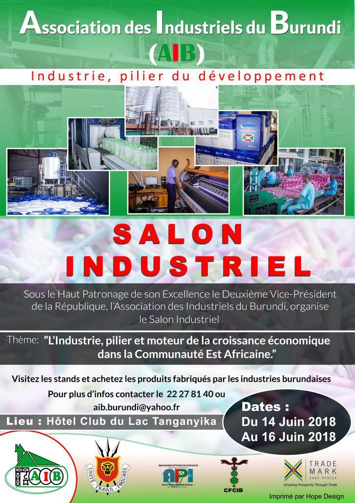 Affiche officielle du Salon Industriel du Burundi