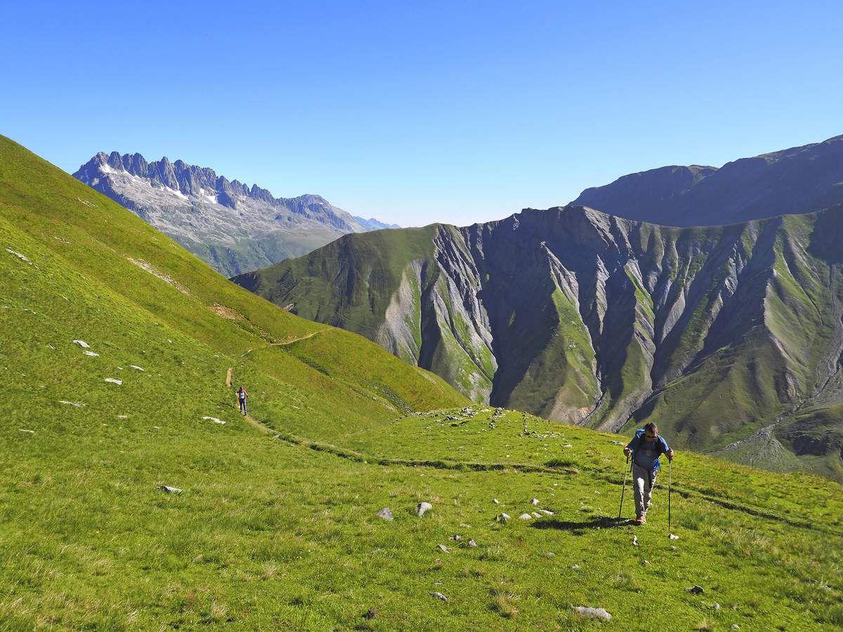 Arrivée vers 2300 m, peu avant le col du Couard.