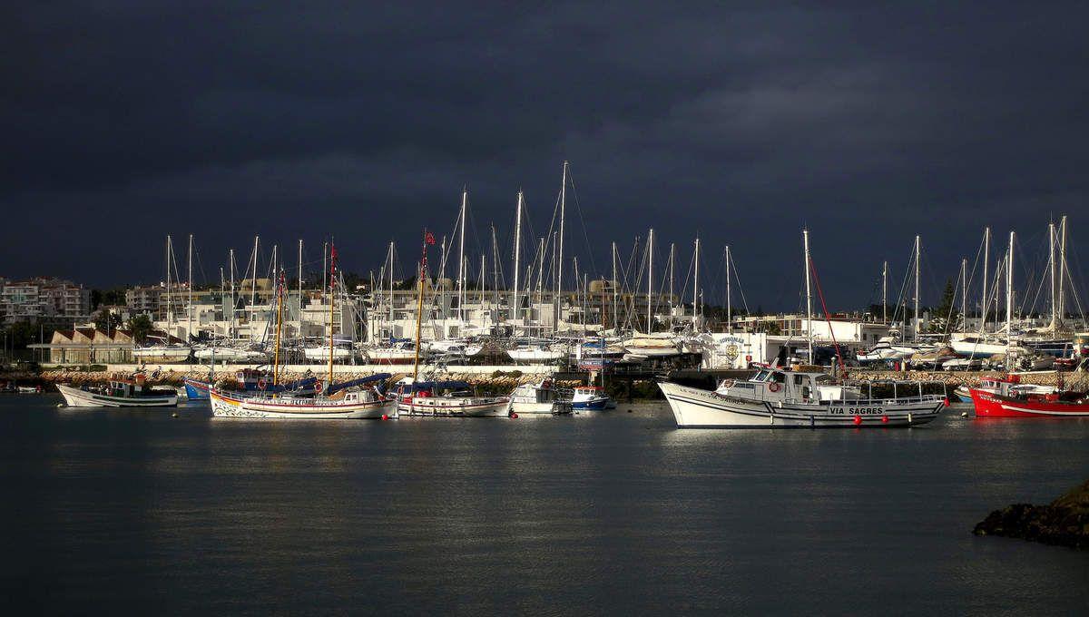 Le port d'Alvor.