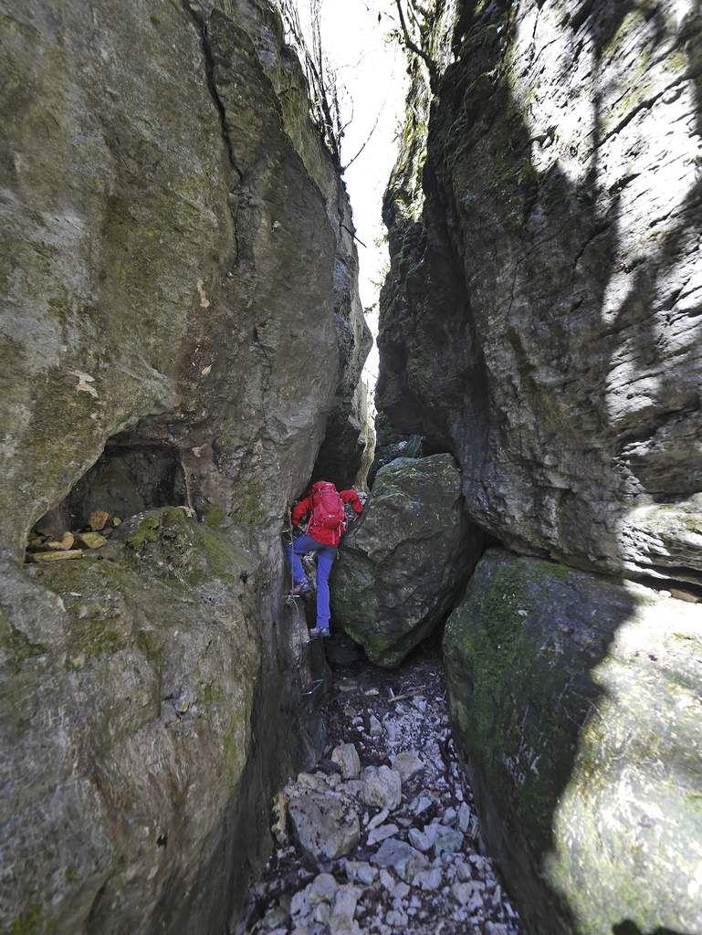 Le début du canyon des Gueulards.