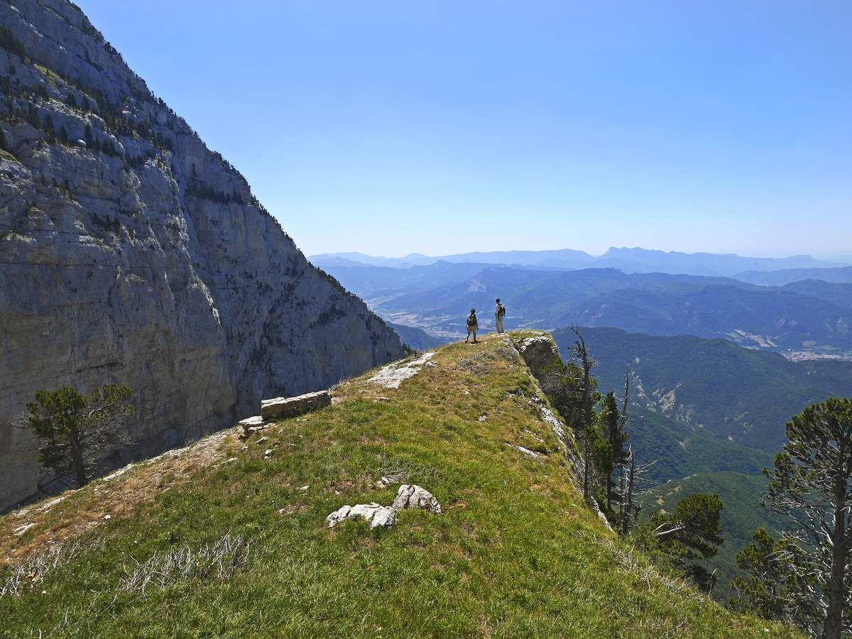 Le dernier promontoire sur la Grande Cheneau et la plaine dioise.