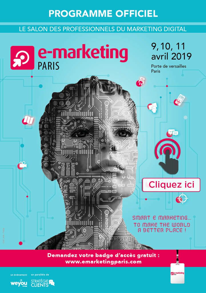 Animation de conférences au salon E-Marketing Paris du 9 au 11 avril