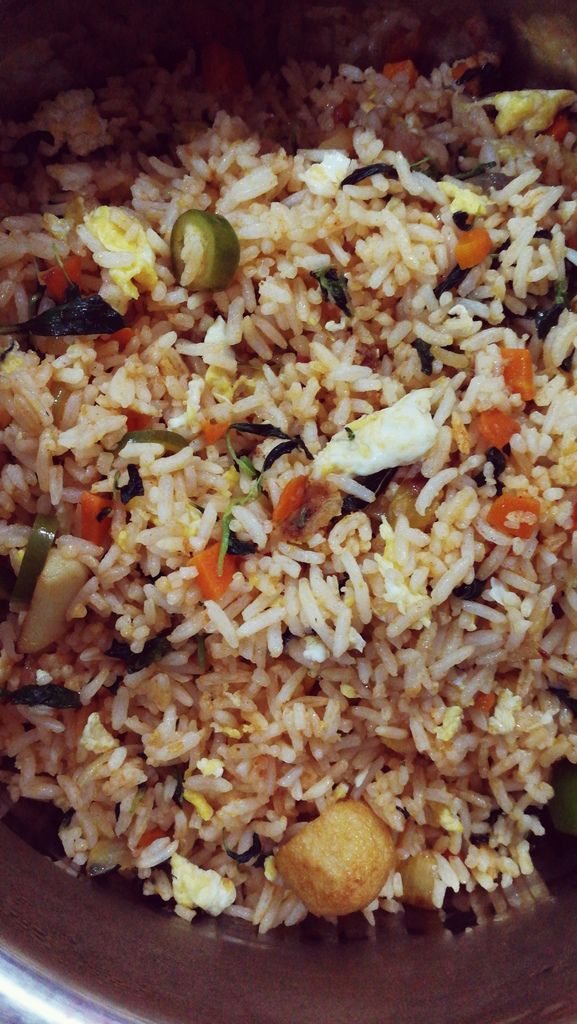 Tropical amaranth vegetable Fried rice - A healthy meal