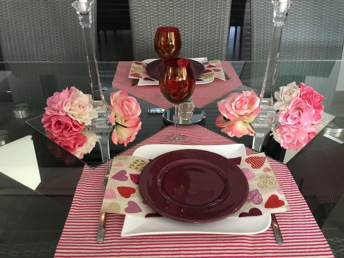 """Déco table """"romantique"""" Saint-Valentin"""