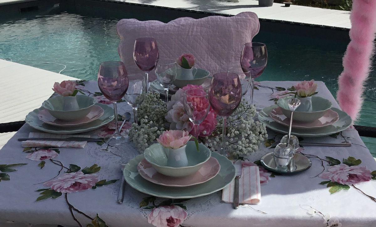 Table douceur des fleurs