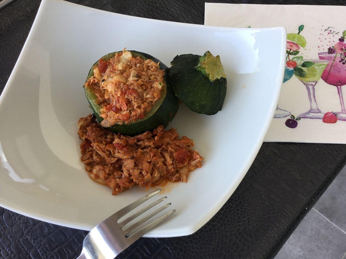 Courgettes au thon et à la mozzarella