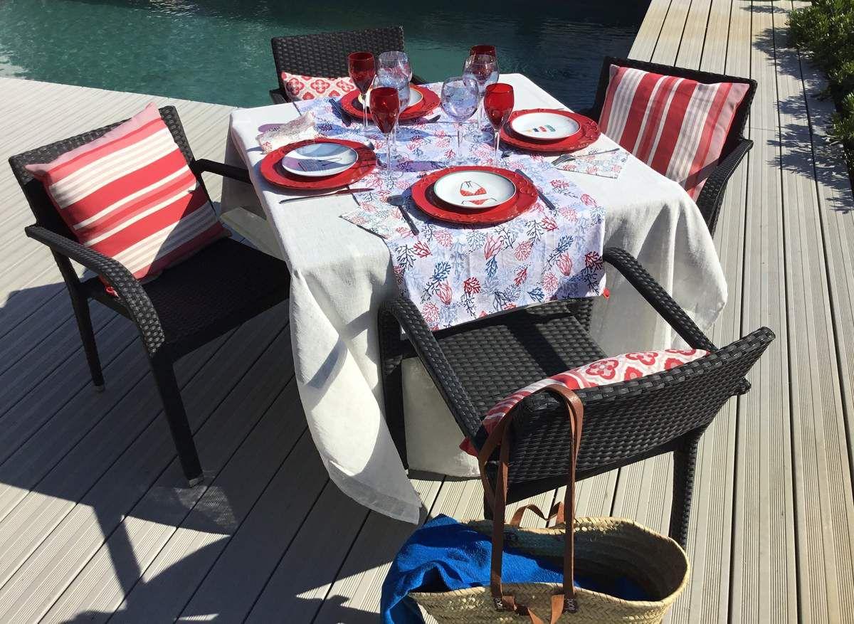 """Déco de table """"Avant goût de la plage"""""""
