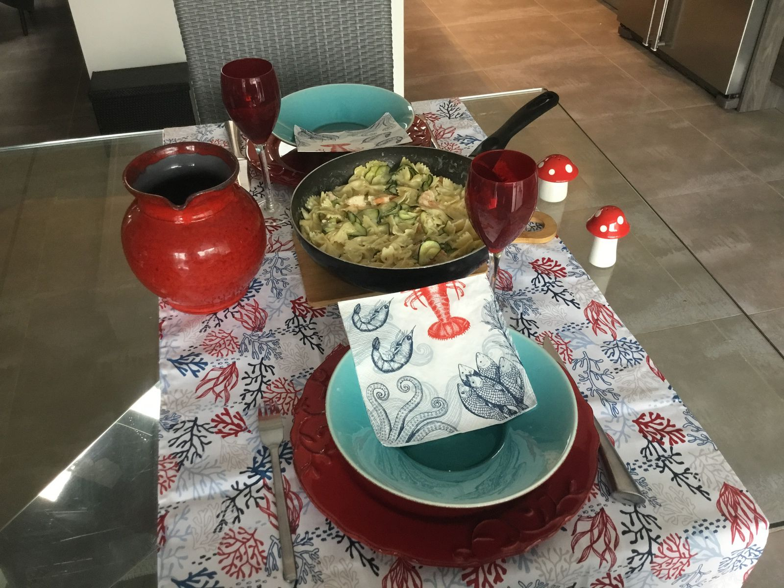 Table «one pot pasta»