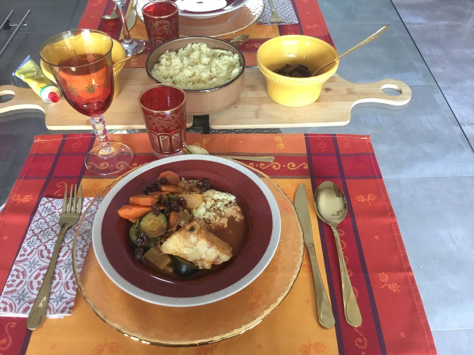 Table «couscous de la mer»