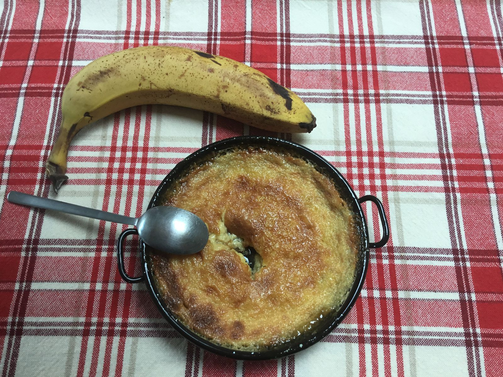 Gratin de banane au rhum
